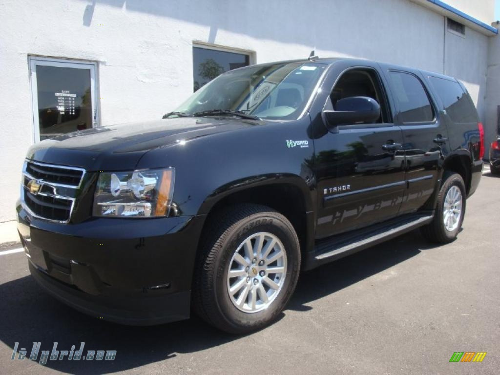2009 chevrolet tahoe hybrid 4x4 in black 104985 hybrid cars gasoline electric. Black Bedroom Furniture Sets. Home Design Ideas