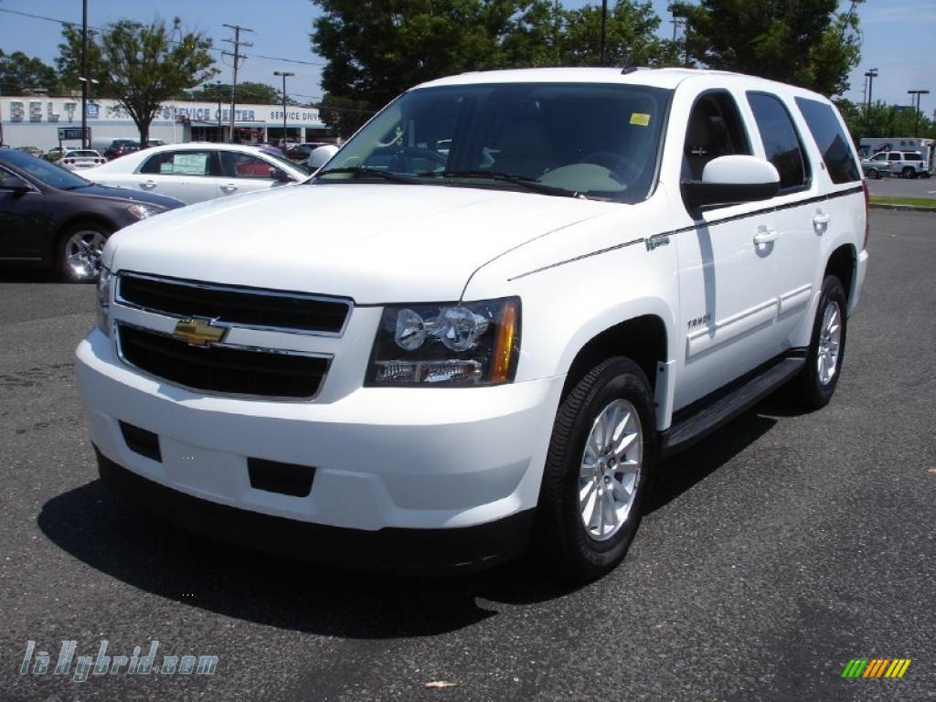 2010 chevrolet tahoe hybrid 4x4 in summit white 167888 hybrid cars gasoline. Black Bedroom Furniture Sets. Home Design Ideas