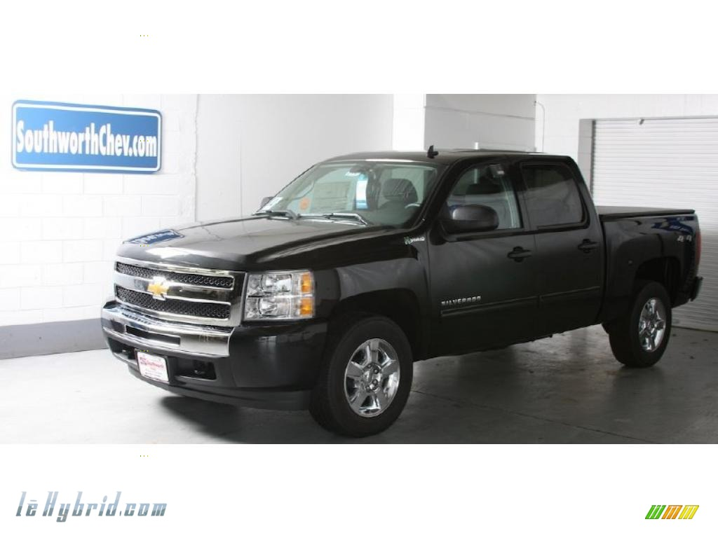 2010 chevrolet silverado 1500 hybrid crew cab 4x4 in black. Black Bedroom Furniture Sets. Home Design Ideas