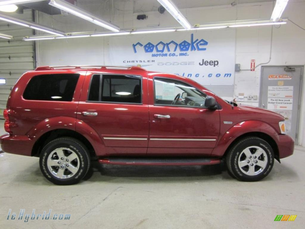 2009 dodge durango limited hybrid 4x4 in inferno red. Black Bedroom Furniture Sets. Home Design Ideas