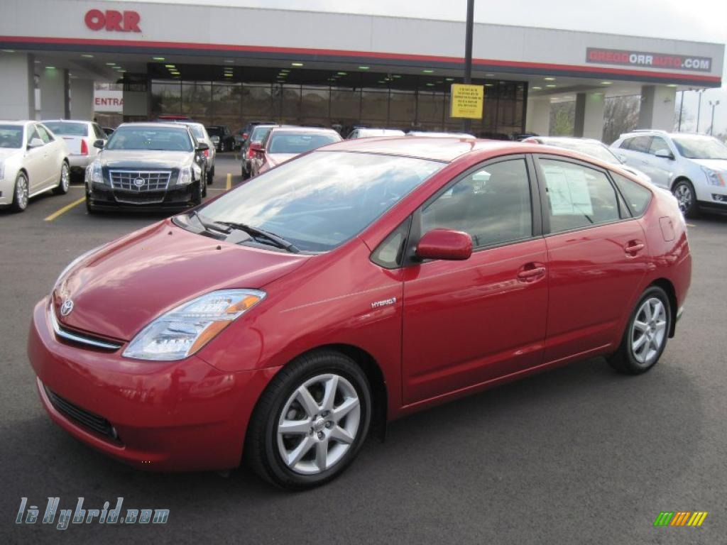 2007 toyota prius hybrid touring in barcelona red metallic for Prius electric motor for sale