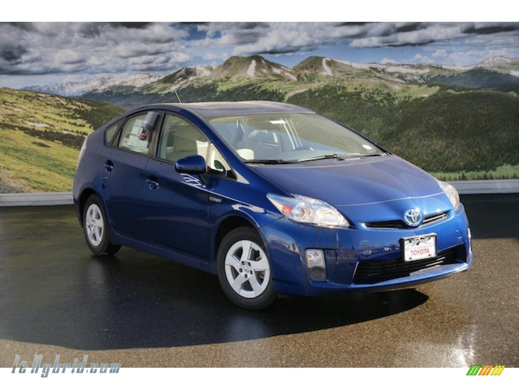 2011 toyota prius hybrid iv in blue ribbon metallic 260345 hybrid cars. Black Bedroom Furniture Sets. Home Design Ideas