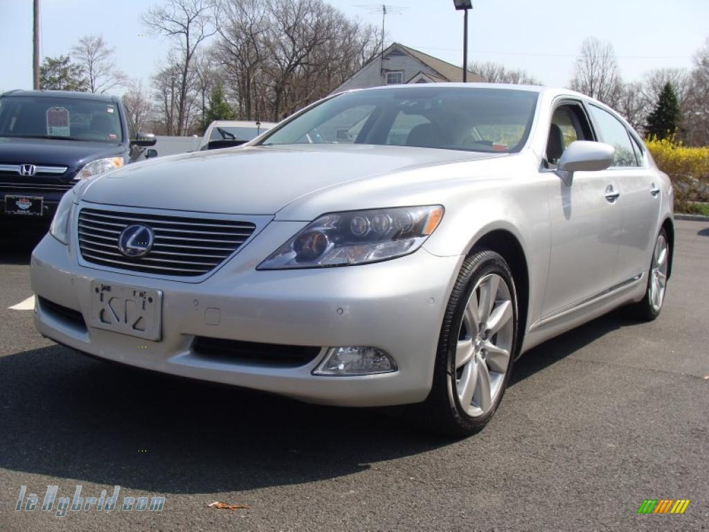 2008 lexus ls 600h l hybrid in mercury silver metallic. Black Bedroom Furniture Sets. Home Design Ideas