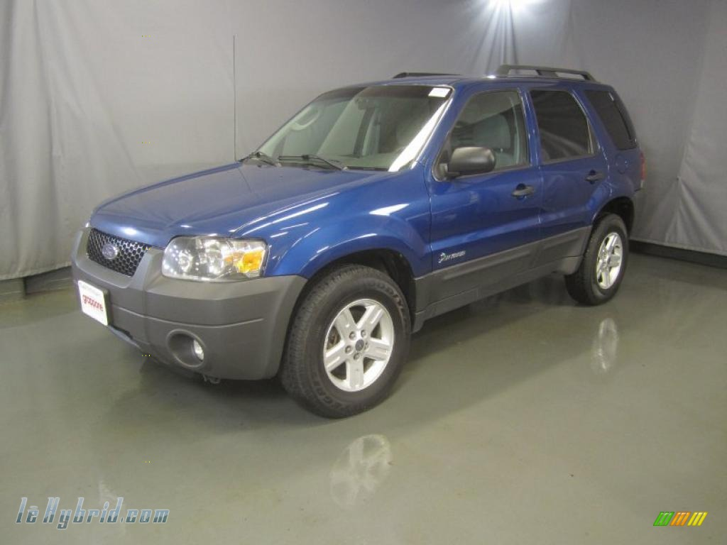 Vista Blue Metallic Medium Dark Flint Ford Escape Hybrid 4wd