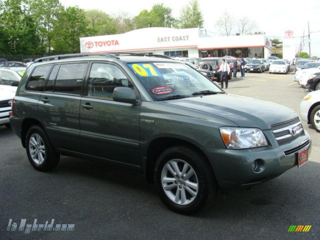 2007 toyota highlander hybrid limited 4wd in oasis green pearl 039035 hybrid. Black Bedroom Furniture Sets. Home Design Ideas