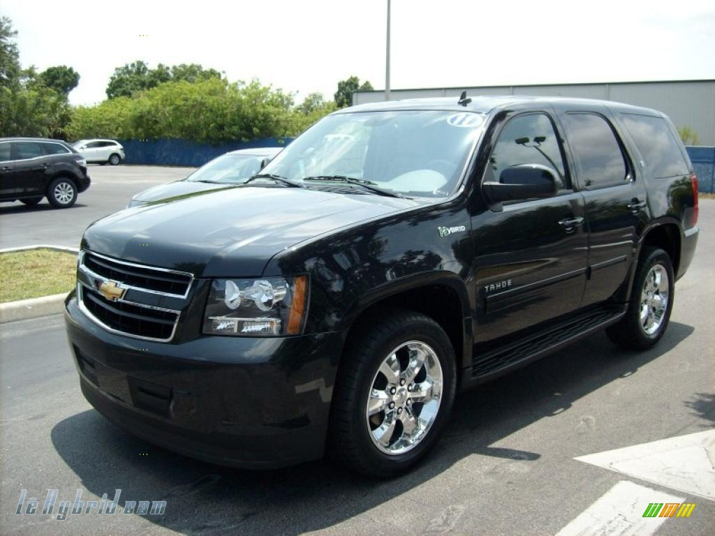 2011 chevrolet tahoe hybrid in black granite metallic 322842 hybrid cars. Black Bedroom Furniture Sets. Home Design Ideas