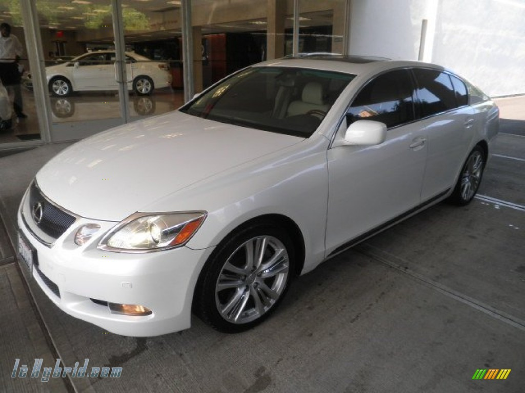 2007 lexus gs 450h hybrid in starfire white pearl 006809. Black Bedroom Furniture Sets. Home Design Ideas