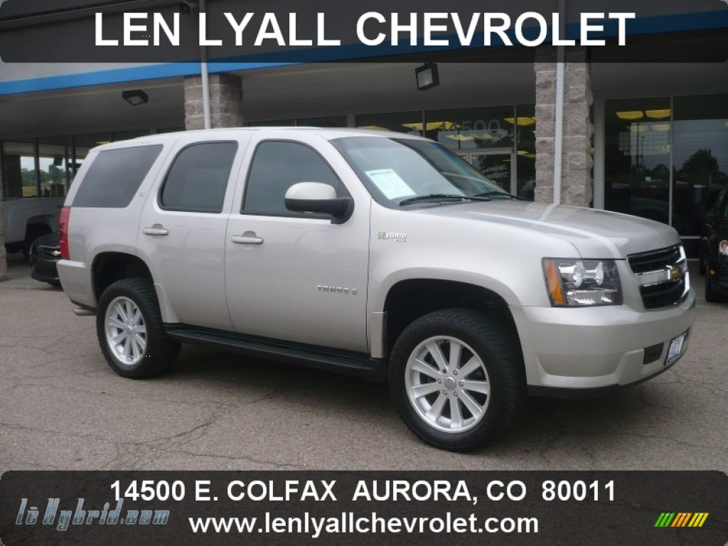 2009 chevrolet tahoe hybrid 4x4 in silver birch metallic 124318 hybrid cars. Black Bedroom Furniture Sets. Home Design Ideas