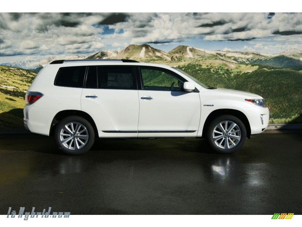 2012 Toyota Highlander Hybrid Limited 4wd In Blizzard