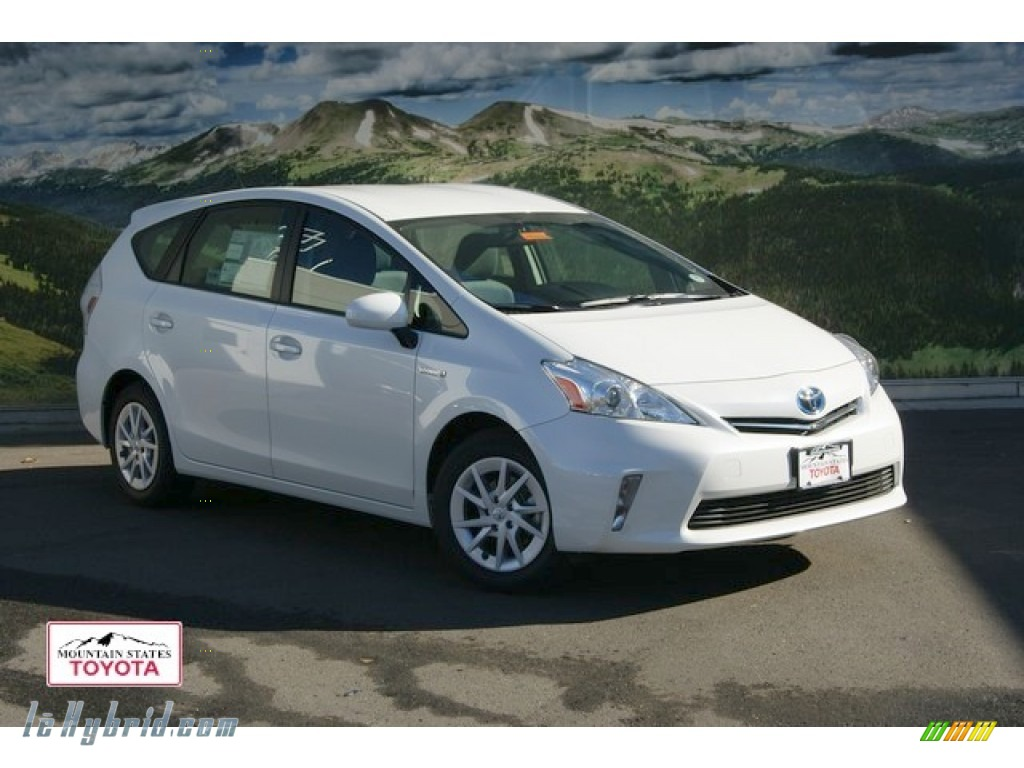 2012 toyota prius v three hybrid in blizzard white pearl for Prius electric motor for sale