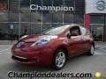 Nissan LEAF SL Cayenne Red photo #1