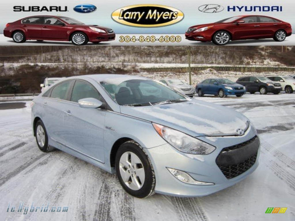2011 Sonata Hybrid - Blue Sky Metallic / Gray photo #1