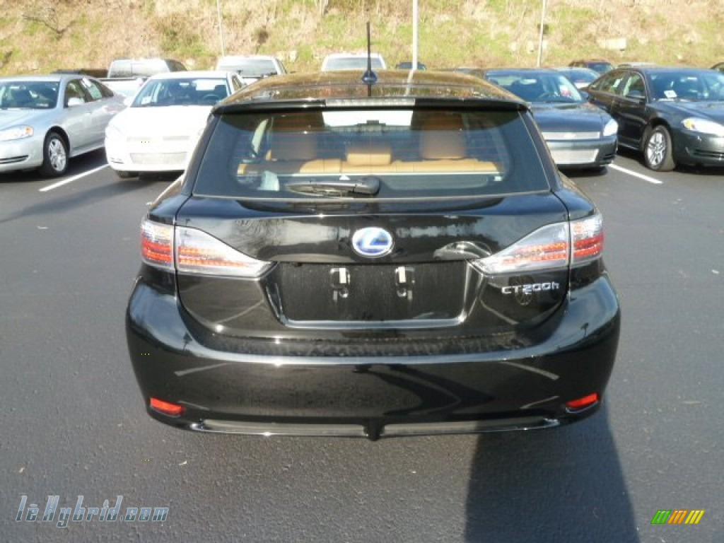 2012 CT 200h Hybrid Premium - Obsidian Black / Caramel Nuluxe photo #3