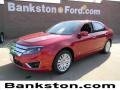 Ford Fusion Hybrid Red Candy Metallic photo #1