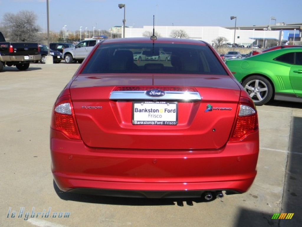 2012 Fusion Hybrid - Red Candy Metallic / Charcoal Black photo #4