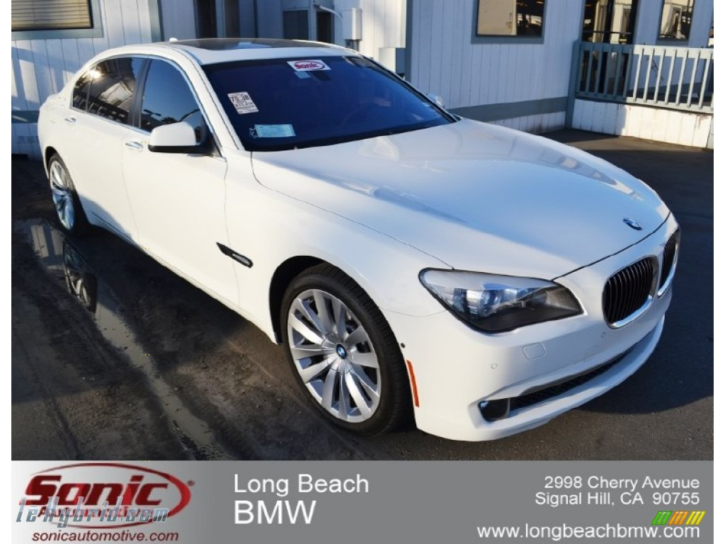 Alpine White / Black BMW 7 Series ActiveHybrid 750Li Sedan