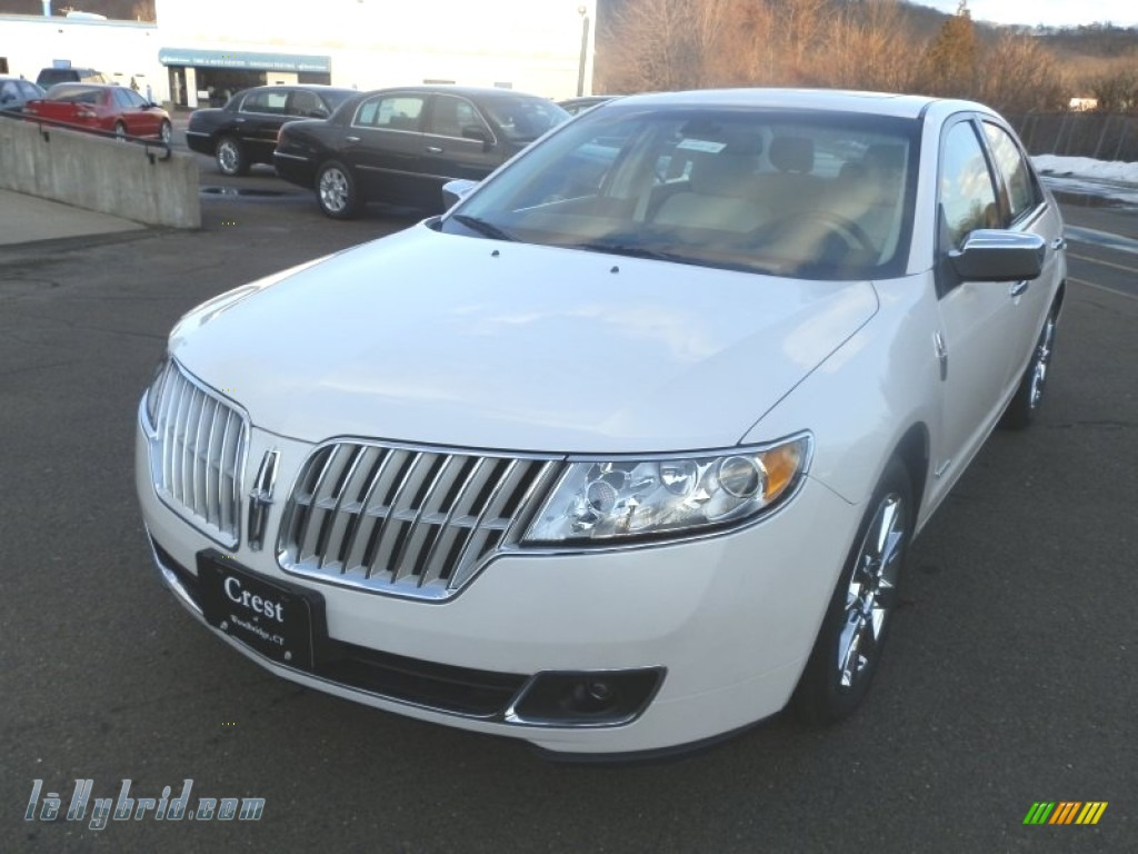 2012 MKZ Hybrid - White Platinum Metallic Tri-Coat / Cashmere photo #2