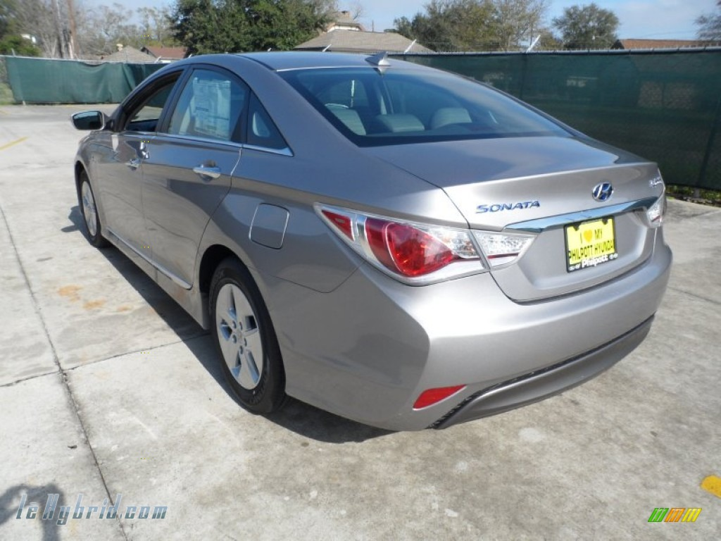 2012 Sonata Hybrid - Hyper Silver Metallic / Gray photo #5
