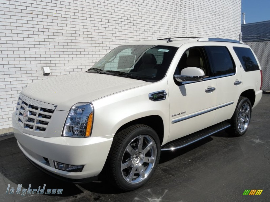 2012 cadillac escalade hybrid 4wd in white diamond tricoat. Black Bedroom Furniture Sets. Home Design Ideas