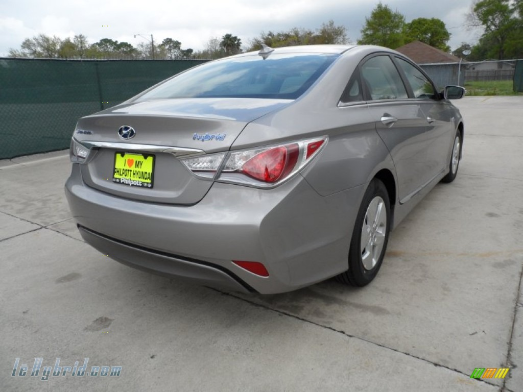 2012 Sonata Hybrid - Hyper Silver Metallic / Gray photo #3