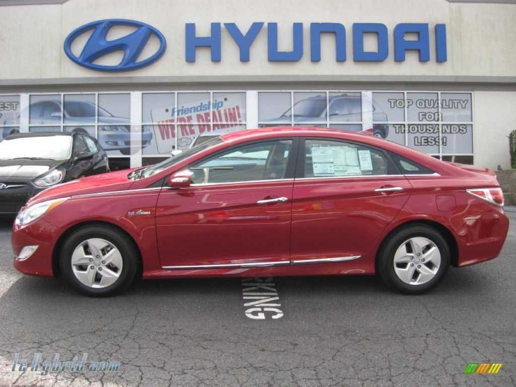 Venetian Red / Camel Hyundai Sonata Hybrid