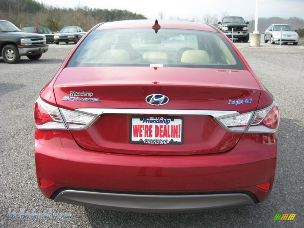 2011 Sonata Hybrid - Venetian Red / Camel photo #7