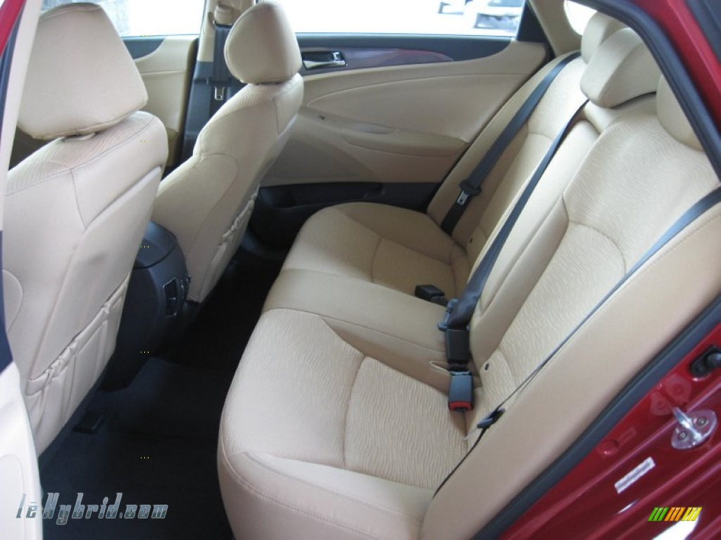 2011 Sonata Hybrid - Venetian Red / Camel photo #16