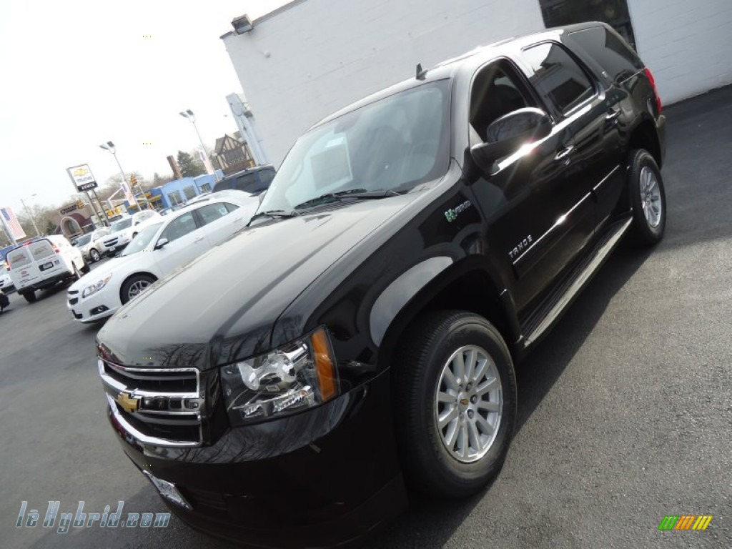 2012 chevrolet tahoe hybrid 4x4 in black 235865 hybrid cars gasoline electric. Black Bedroom Furniture Sets. Home Design Ideas