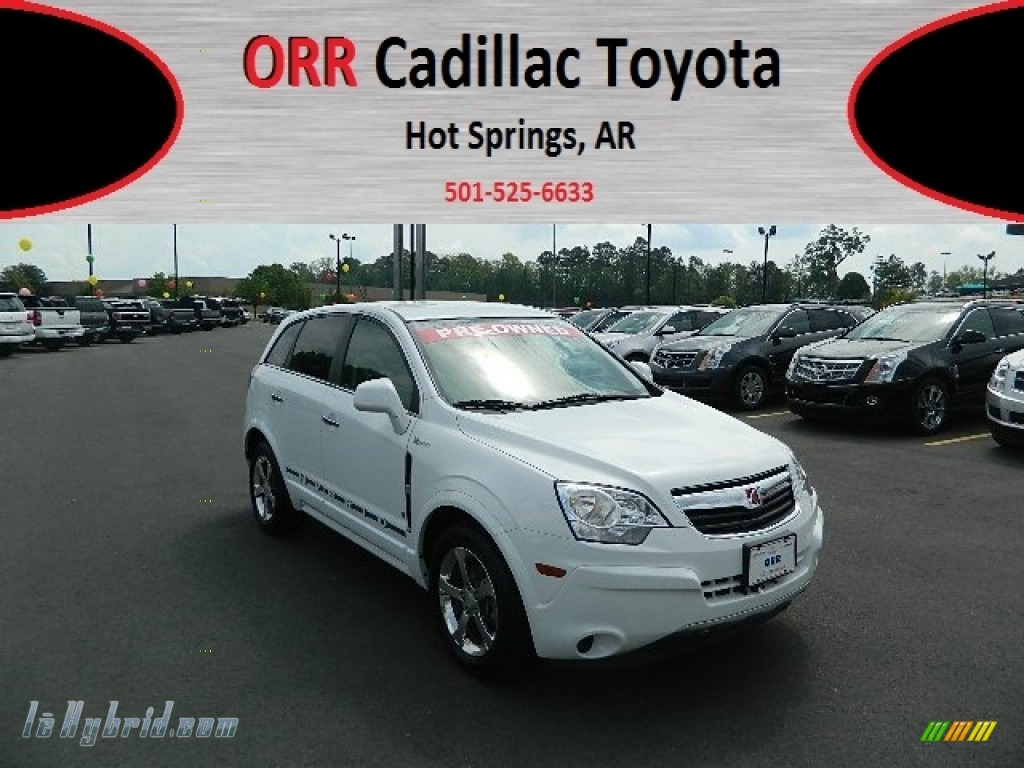 Polar White / Tan Saturn VUE Green Line Hybrid