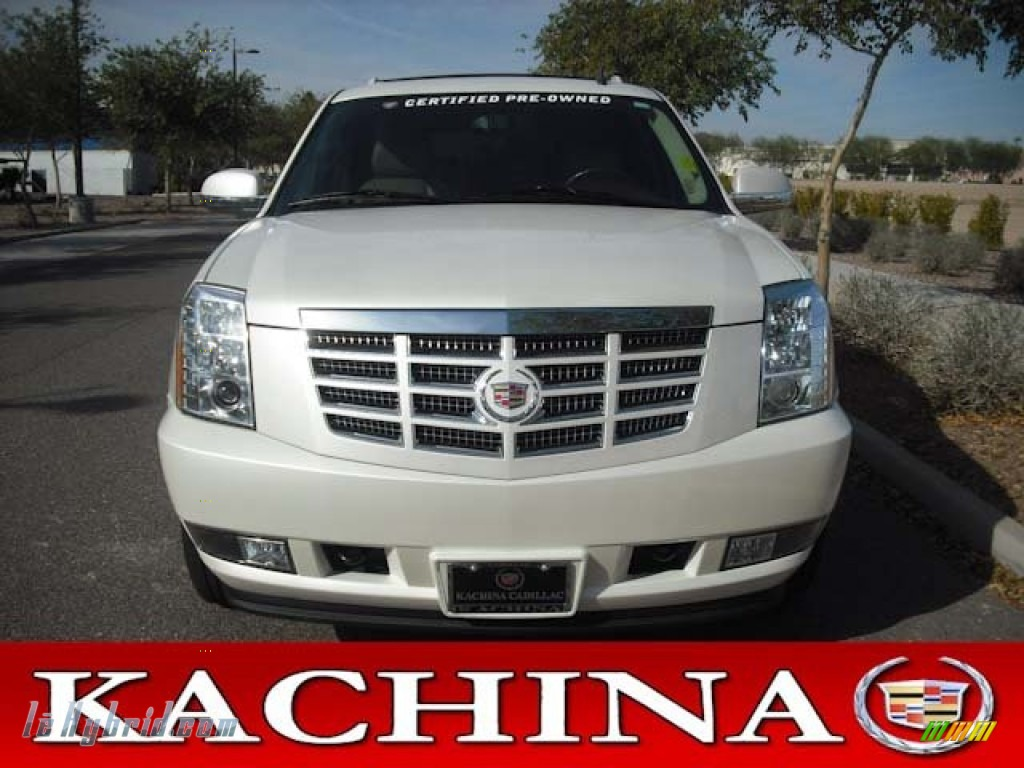 2011 Escalade Hybrid AWD - White Diamond Tricoat / Cashmere/Cocoa photo #1