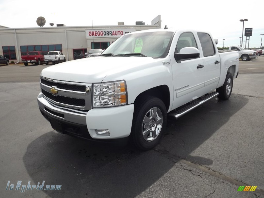 2009 chevrolet silverado 1500 hybrid crew cab 4x4 in summit white 239816. Black Bedroom Furniture Sets. Home Design Ideas