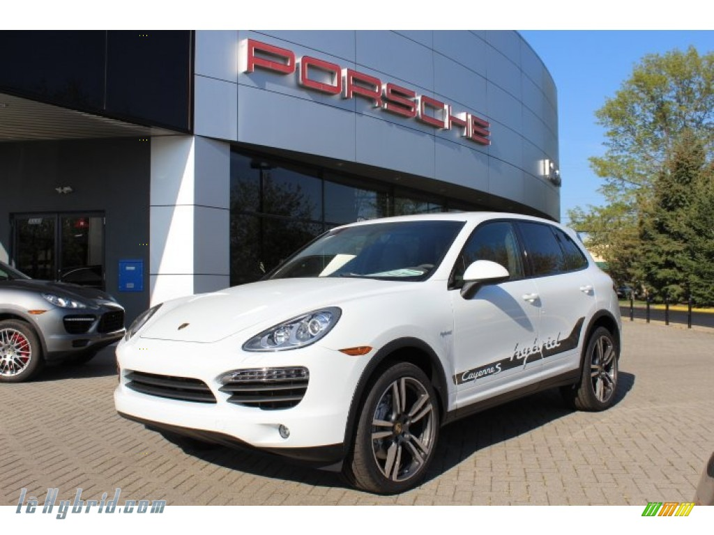 2012 Cayenne S Hybrid - White / Umber Brown/Light Tartufo photo #1