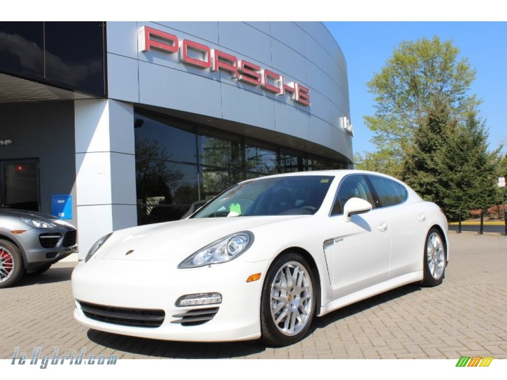 2012 Panamera S Hybrid - Carrara White / Espresso photo #1