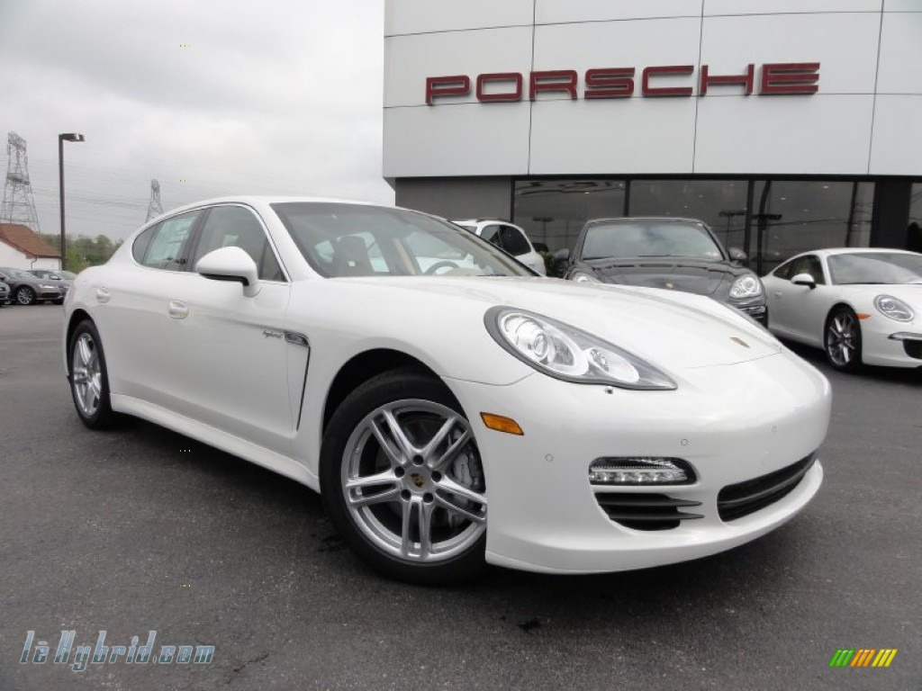 2012 Panamera S Hybrid - Carrara White / Luxor Beige photo #1
