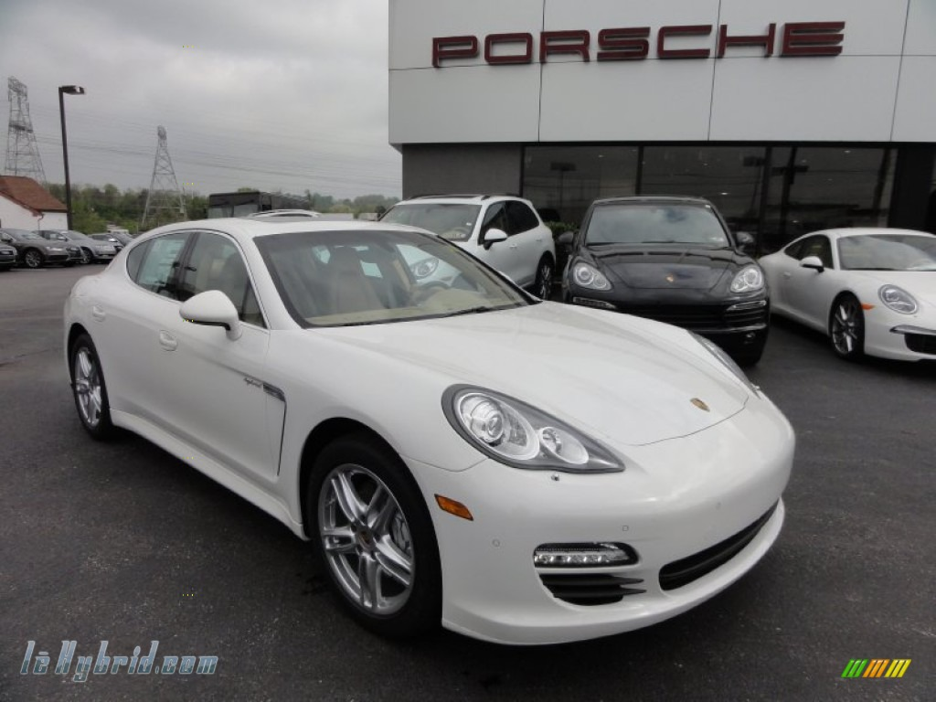 2012 Panamera S Hybrid - Carrara White / Luxor Beige photo #5