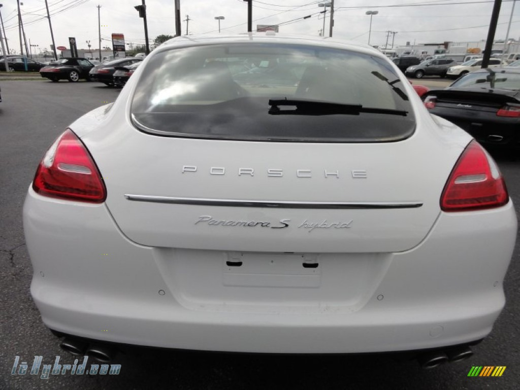 2012 Panamera S Hybrid - Carrara White / Luxor Beige photo #9