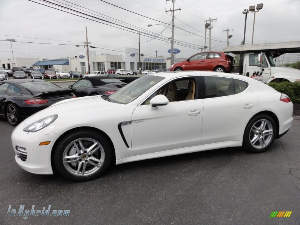 2012 Panamera S Hybrid - Carrara White / Luxor Beige photo #11