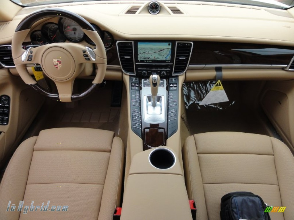 2012 Panamera S Hybrid - Carrara White / Luxor Beige photo #27