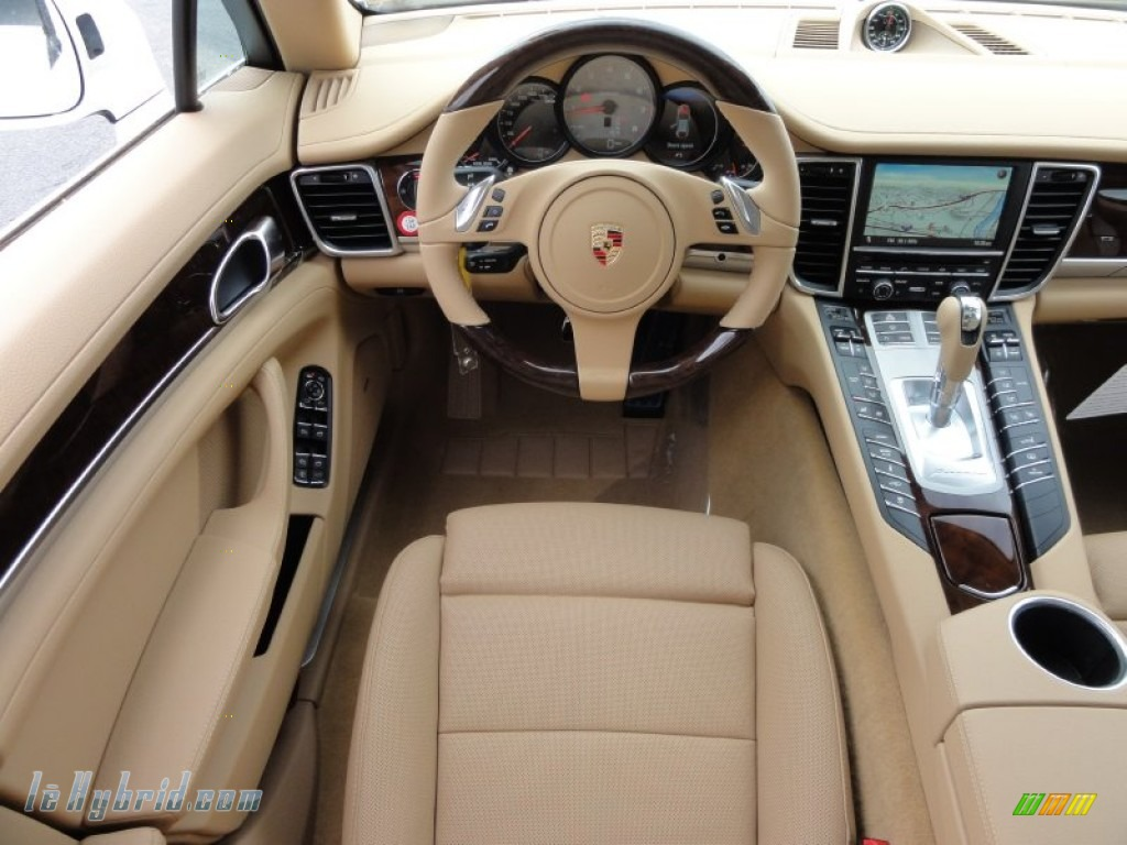 2012 Panamera S Hybrid - Carrara White / Luxor Beige photo #28