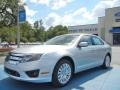 Ford Fusion Hybrid Ingot Silver Metallic photo #1