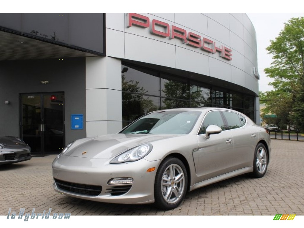 2012 Panamera S Hybrid - Platinum Silver Metallic / Black photo #1