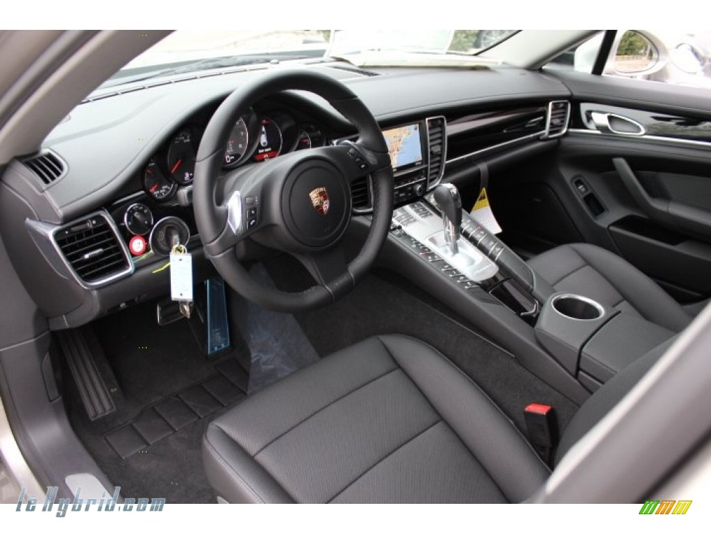 2012 Panamera S Hybrid - Platinum Silver Metallic / Black photo #12