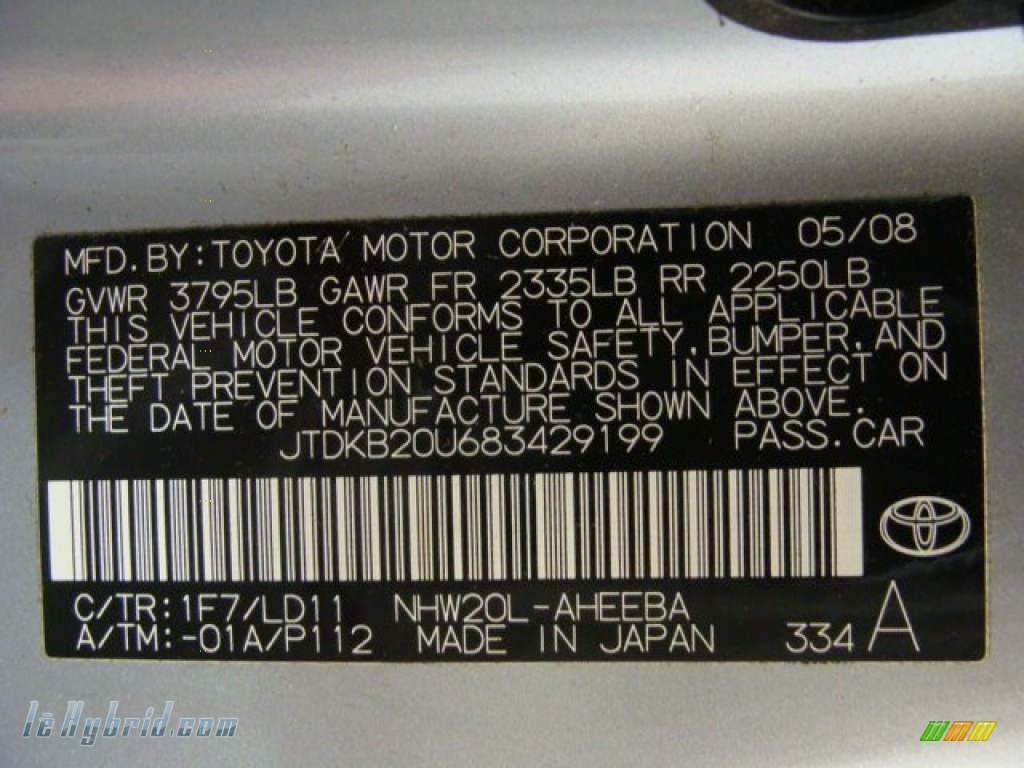 2008 Prius Hybrid - Classic Silver Metallic / Gray photo #26