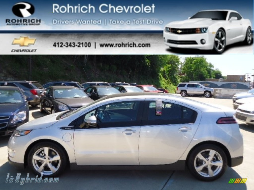 2012 Volt Hatchback - Silver Ice Metallic / Jet Black/Ceramic White Accents photo #1