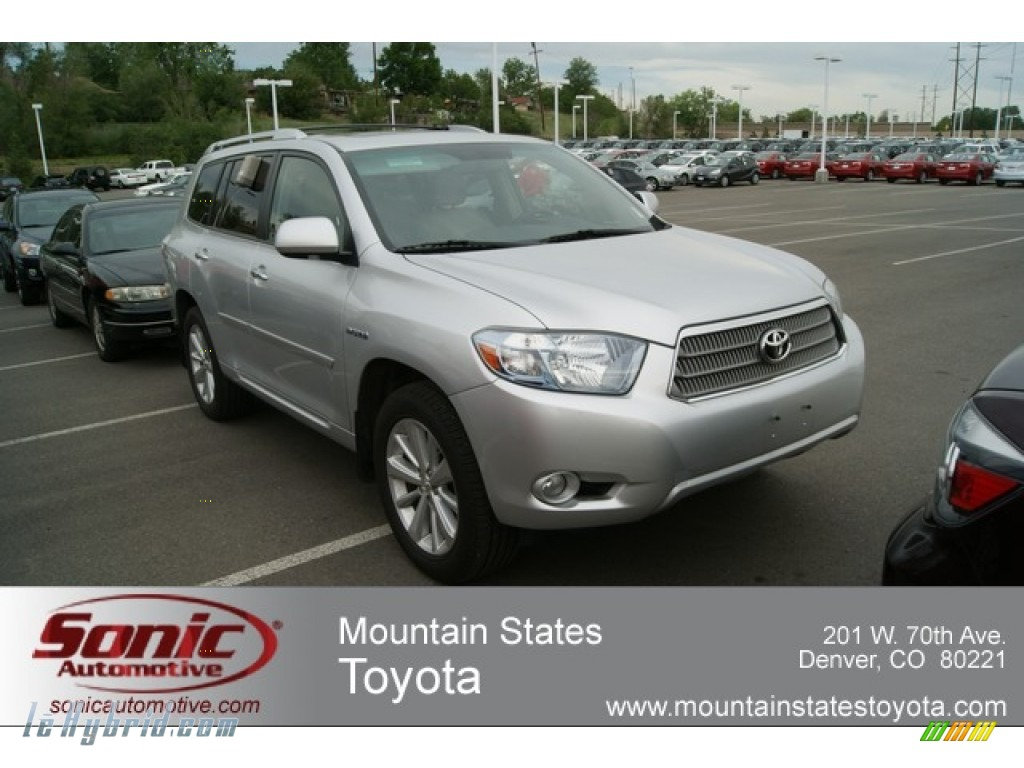 2008 Highlander Hybrid Limited 4WD - Classic Silver Metallic / Ash Gray photo #1