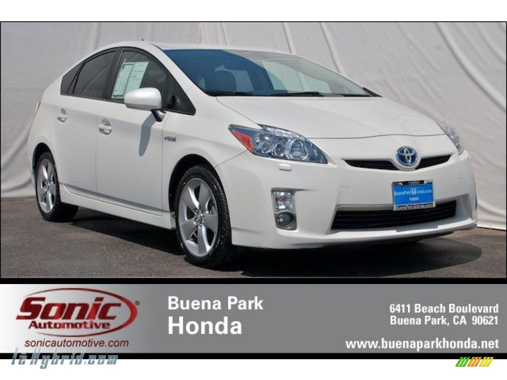 2010 Prius Hybrid IV - Blizzard White Pearl / Bisque photo #1