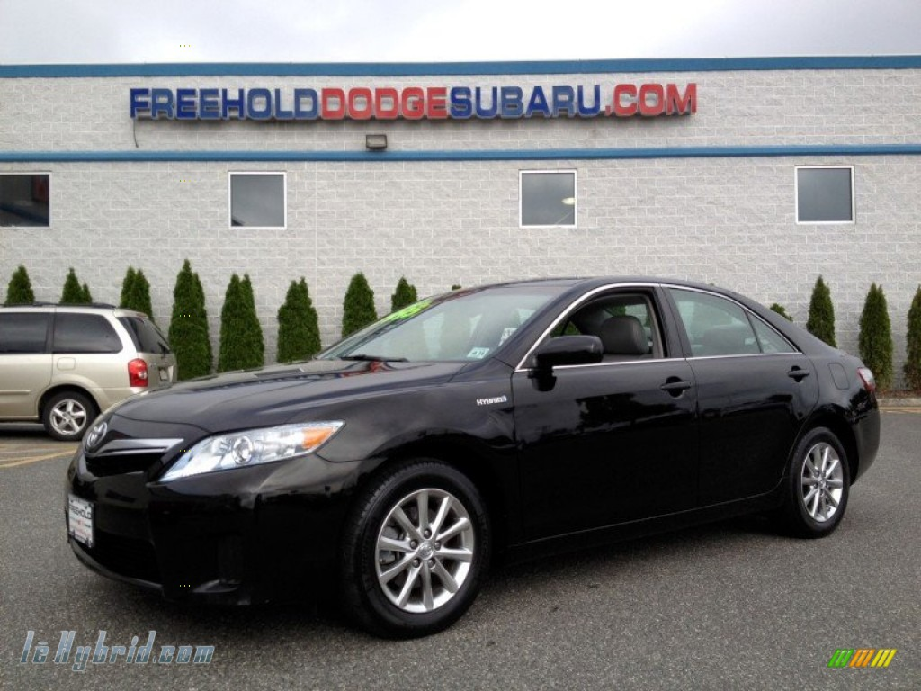 2010 Camry Hybrid - Black / Ash Gray photo #1