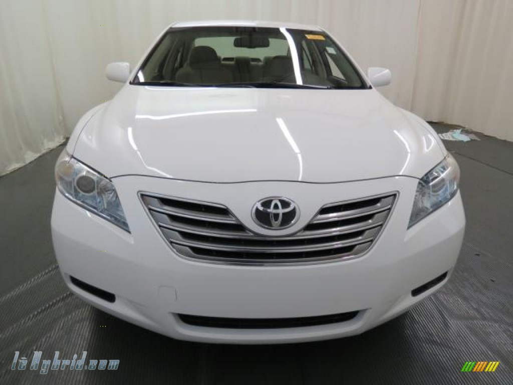 2007 Camry Hybrid - Super White / Bisque photo #2