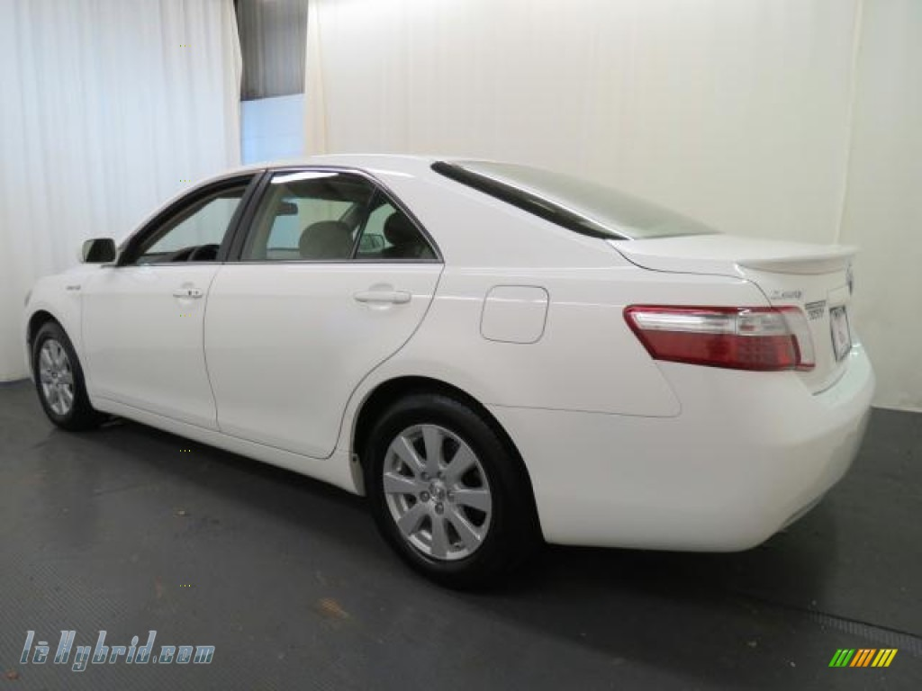 2007 Camry Hybrid - Super White / Bisque photo #29