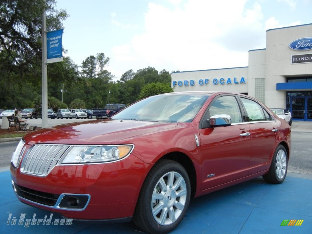 2012 MKZ Hybrid - Red Candy Metallic / Light Camel photo #1